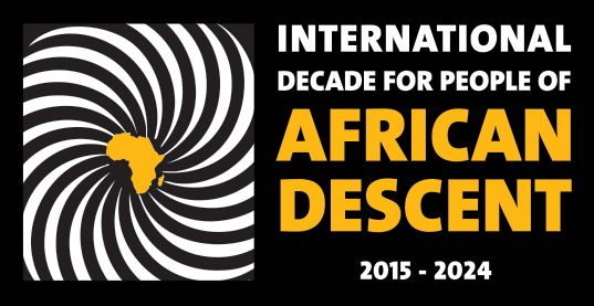 International Decade For People of African Descent Logo in English