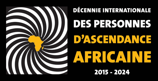 International Decade For People of African Descent Logo in French